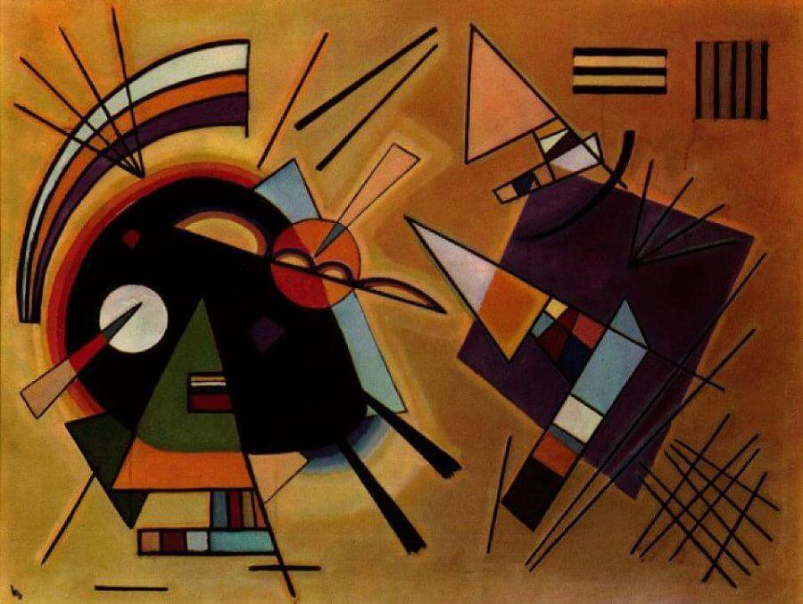 Black and Violet, 1923 by Wassily Kandinsky