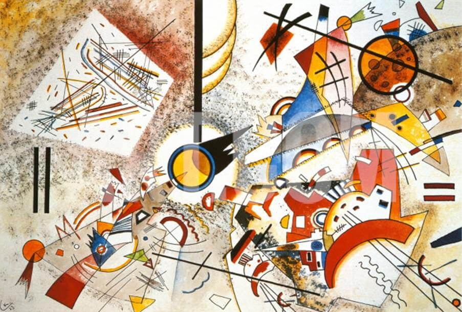 Bustling Aquarelle, 1923 by Wassily Kandinsky