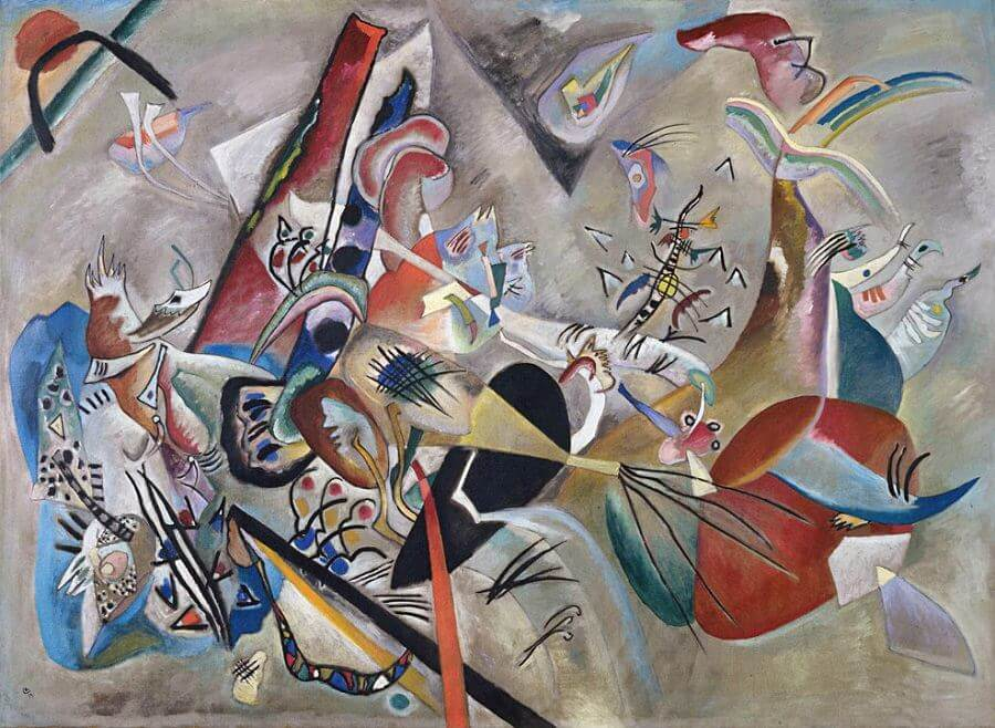 In Grey, 1919 by Wassily Kandinsky