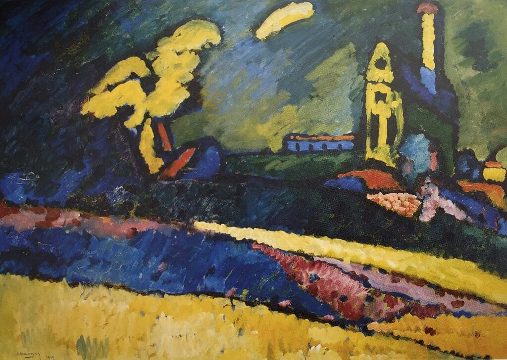 Murnau Landscape with Church, 1909 by Wassily Kandinsky