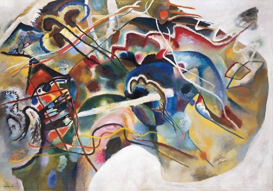 Painting With White Border 1912 By Wassily Kandinsky