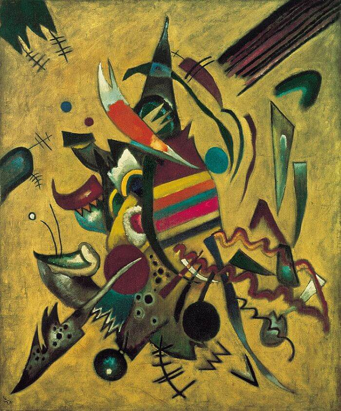 Line Art Painting Hd : Points by wassily kandinsky