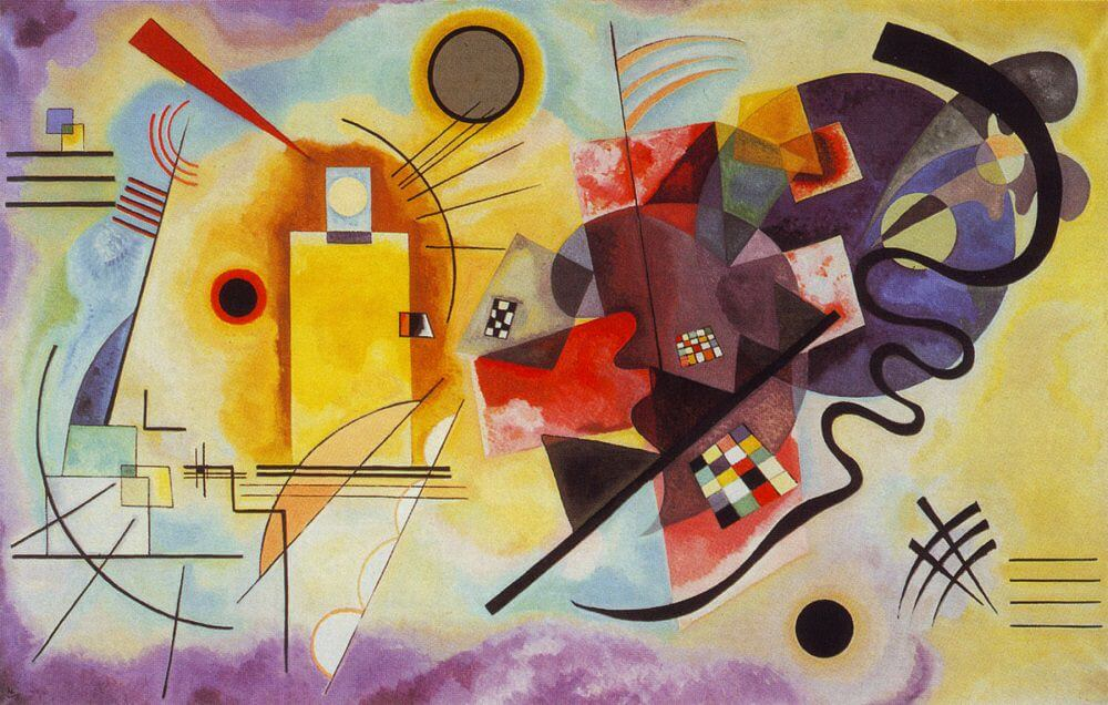 Yellow-Red-Blue, 1925 by Wassily Kandinsky