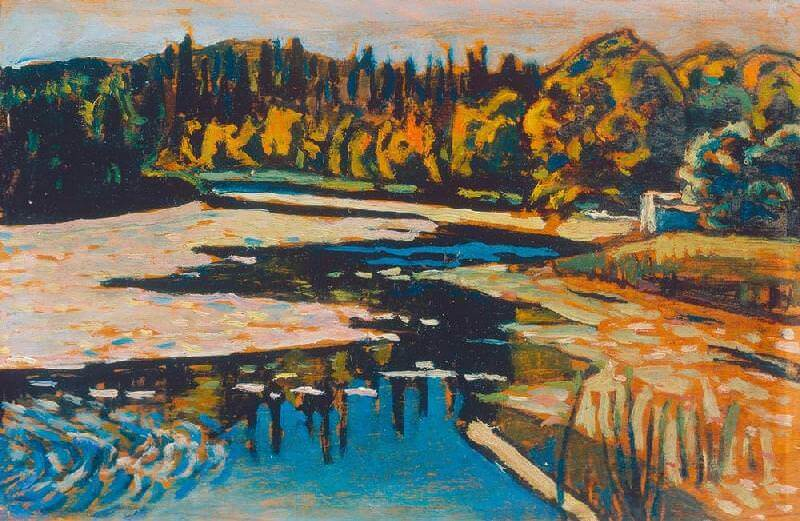 River in Autumn, 1900 by Wassily Kandinsky